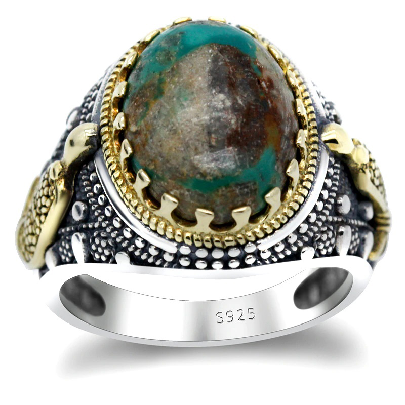 mens-ring-natural-turquoise-stone-925-sterling-silver-RNG-17440