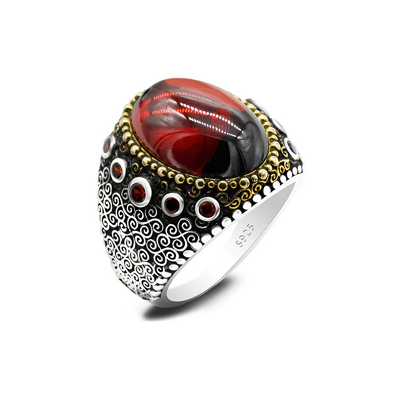 natural-stone-mens-ring-925-sterling-silver-turkish-style-red-garnet-RNG-17623