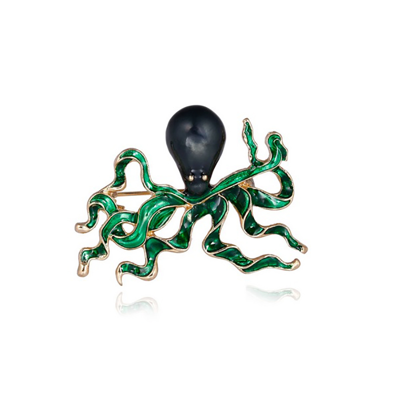 Octopus Brooch Ocean Animal Jewelry Gift Pin