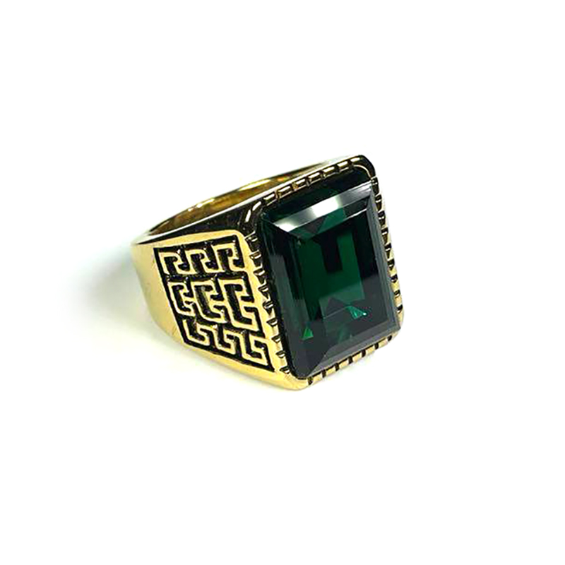 persian-style-mens-ring-stainless-steel-rhinestone-gold-green-RNG-17587