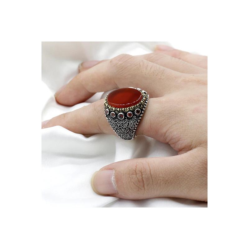 ring-turkish-mens-orange-agate-925-sterling-silver-RNG-17615