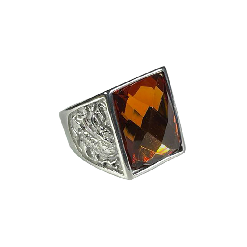 stainless-steel-dragon-ring-rhinestone-silver-amber-RNG-17547
