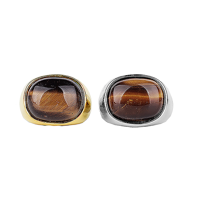 Unique Style Men's Ring Stainless Steel Tiger Eye