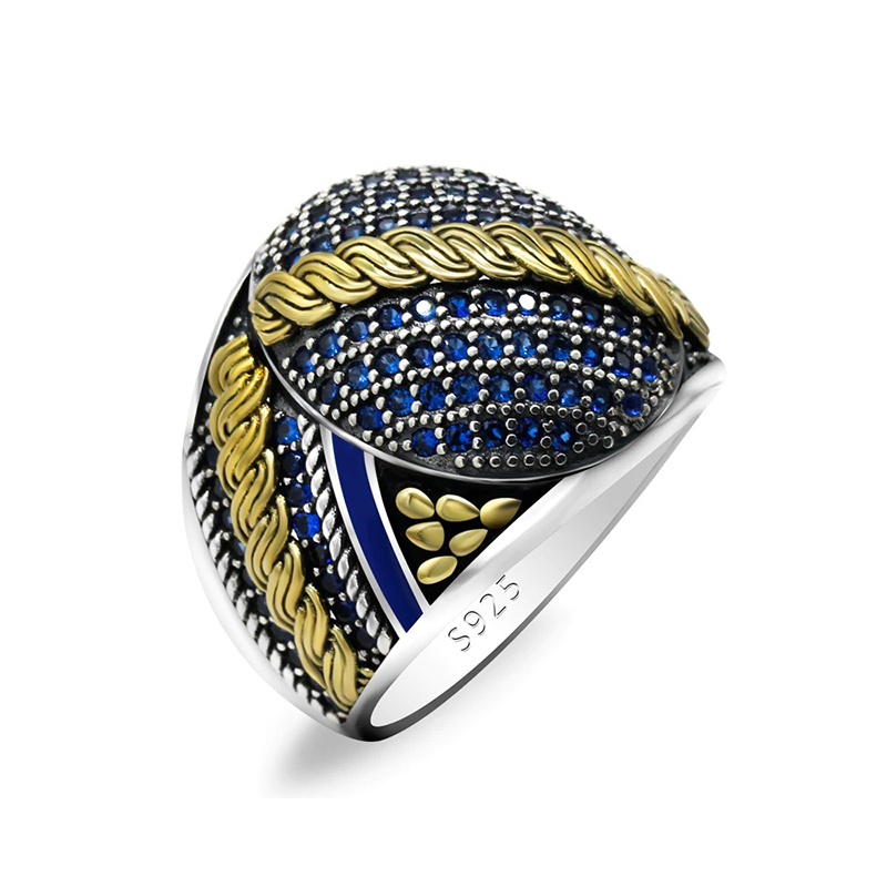 Luxurious CZ Men's Ring 925 Sterling Silver