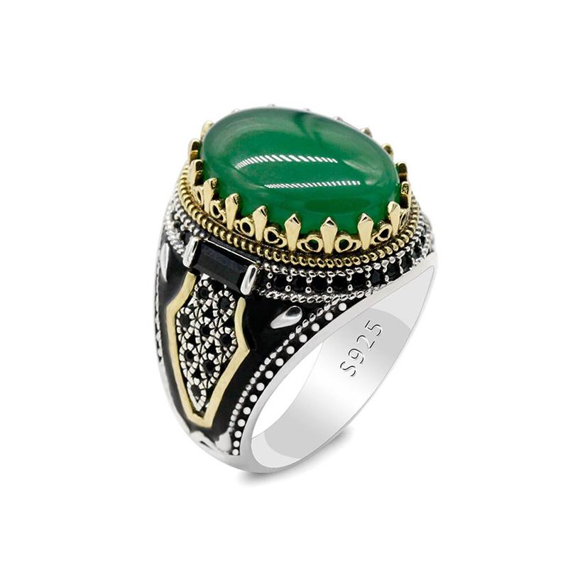 turkish-handmade-green-agate-mens-ring-s925-RNG-17756